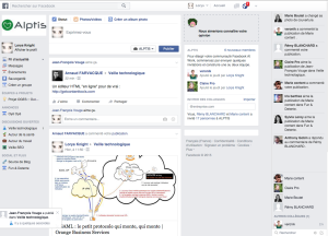 Home page Facebbok at Work
